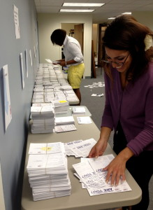 These are just a portion of the 30,000 postcards signed by Illinoisans in support of marriage equality that were delivered to Illinois legislators.