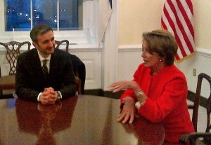House Minority Leader Nancy Pelosi meets with the EQIL delegation, including CEO Bernard Cherkasov