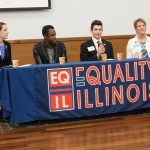 A panel on LGBT youth issues was Moderated by Patty Dillon (Equality Illinois). Panelists: Lawrence Carter (Illinois Safe Schools Alliance), Heather Howard (LGBT yOUTh Center in Springfield), Cindy Martsch (Springfield Public Schools), and Curtis Galloway.