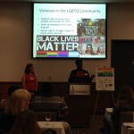 Deirdre Myers (Northwestern University) and Nicole Holmes discussed the intersectionality of LGBTQ activism.