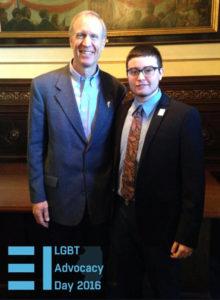Gov. Rauner meets with transgender student Finn DeLima