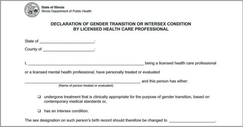 State Gender Marker Correction Forms Now Available Equality Illinois